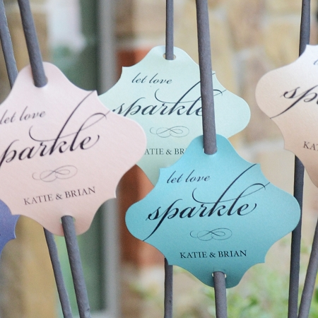 We Now Offer Custom Wedding Sparkler Tags